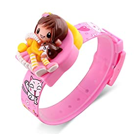 Girls Digital Watch, Kids Children Fashion Casual Barbie Doll Cartoon Decoration Watches Calendar Not Water-resistant Outdoor Party Creative Students Comfortable Lady Pink