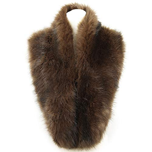 Brown Fur Coat - Dikoaina Extra Large Women's Faux Fur Collar for Winter Coat (120cm, Brown)