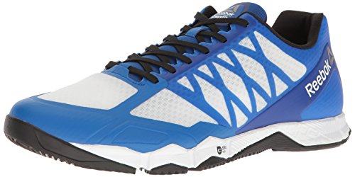 Reebok Men's Crossfit Speed TR Cross-Trainer Shoe, White/Black/Awesome Blue/Pewter, 10 M US