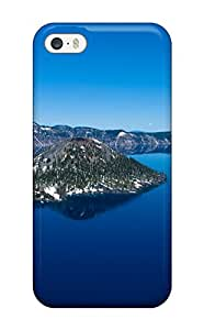 New Style 7551878K61800638 Awesome Defender Tpu Hard Case Cover For Iphone 5/5s- Crater Lake Oregon