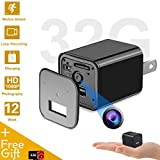 Mini Hidden Spy Camera USB Charger | Full HD 1080P Spy Camera with 32GB Memory | Motion Detection Loop Video Record Hidden Security Camera