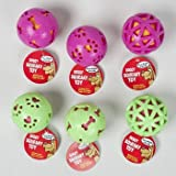 DOG TOY TPR BALL 3 INCH 3 ASST SYLES 2 COLORS IN PDQ, Case Pack of 78