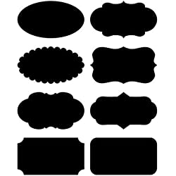 Native Spring Chalkboard Labels, 40 Premium Waterproof Peel and Stick for Jars, Pantries, Craft Rooms Black