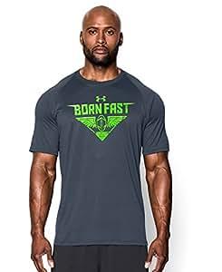 Under Armour Men's UA Born Fast T-Shirt Large Wire