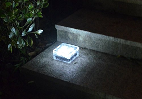 Frosted Glass Solar Brick Paver Light in US - 1