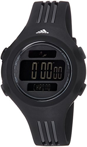[adidas Unisex ADP6086 Questra Digital Watch with Black Polyurethane Band] (Adidas Sport Performance Buckle)