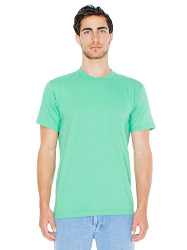 - American Apparel  Unisex Fine Jersey Short Sleeve T-Shirt, Grass, Medium