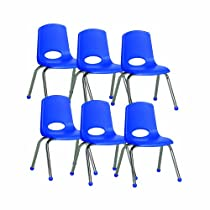 ECR4Kids School Stack Chair with Chrome Legs/ Ball Glides, 14