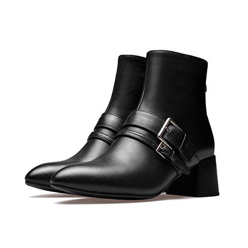 CXQ-Stiefel Botines Chelsea Mujer negro