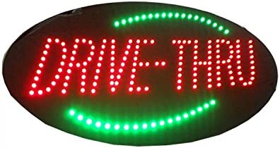 LED Drive Thru Open Sign for Business Light 24 x 12