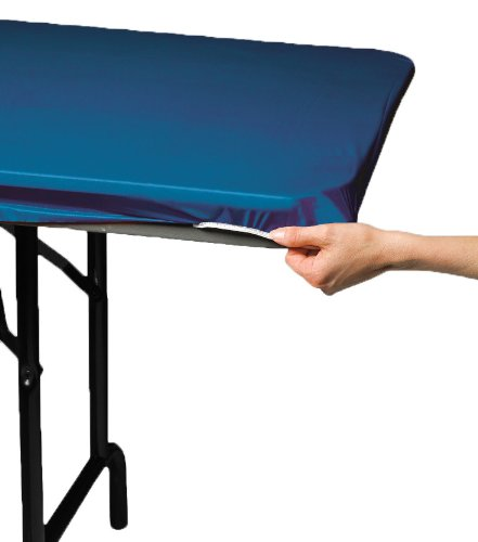 (Creative Converting Plastic Stay Put Banquet Table Cover, 29 by 72-Inch, Royal)
