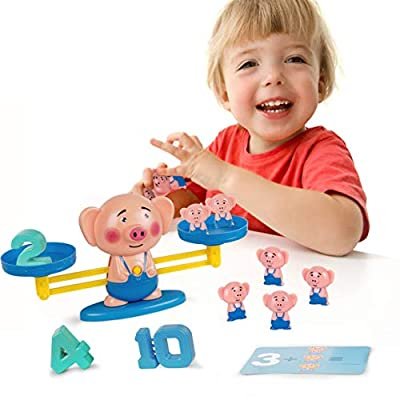 Subao Birthday Toys for 5 Years Old, Toy Gift for 2-4 Year Old Todders Math Learning Toys for 3 4 5 Years Old Kids Pig Scale BalanceToy for Preschoolers STEM Toys for Kids Ages 5-12 : Clothing