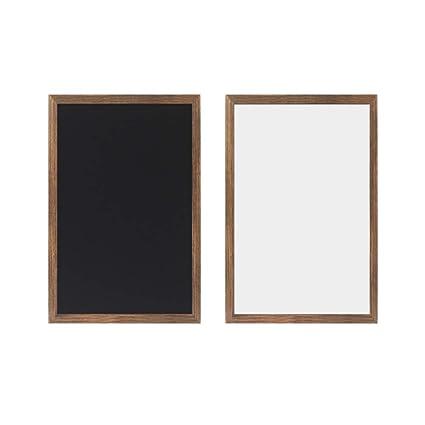 Ommda Pizarra combinada Whiteboard y pizarra nevera tiza magnetica ...