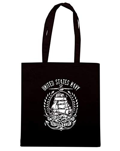Borsa Shopper Nera TM0670 US NAVY UNITED STATES NAVY