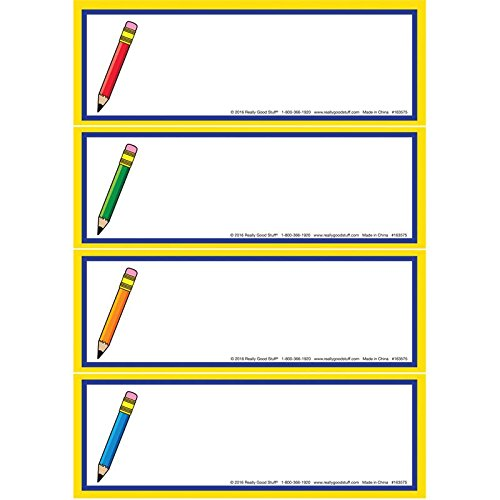 Really Good Stuff Writing Goals Clip 'N' Track Pocket Chart - Primary Card - Refill by Really Good Stuff (Image #1)