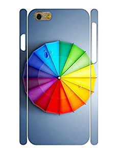 Umbrella Theme Smart Phone Case With Rainbow Design Back Case Cover for Iphone 6, 4.7 Inch