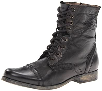 Amazon.com | Steve Madden Men's Troopah Lace-Up Boot ... Steve Madden Combat Boots Men