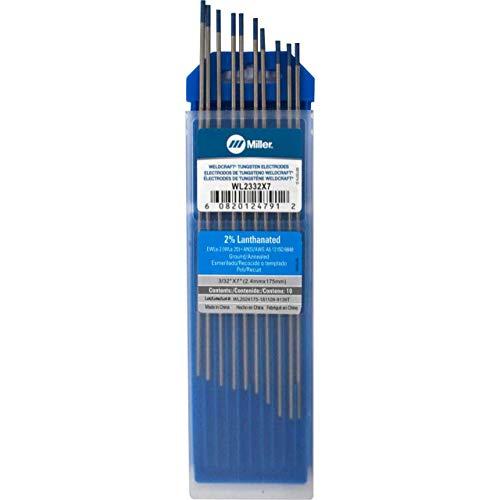"""Miller Weldcraft WL2332X7 2% Lanthanated Tungsten Electrode 3/32 X 7"""""""