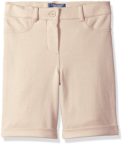 - Cherokee Big Girls' Uniform French Terry Short with Rolled Cuffs, Khaki, 12