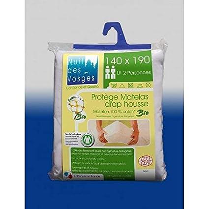 Nuit des Vosges bio protector de colchón 140x190 - totalmente orgánico - anti alergias: Amazon.es: Hogar