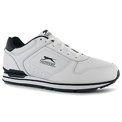 9d24af39841 Slazenger Classic Mens Trainers[10, White/Navy]: Amazon.co.uk: Shoes & Bags