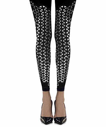 Beat Goes On Patterned Footless Tights Black