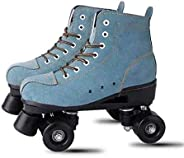 XUDREZ Roller Skates, High-top Roller Skates Four Wheels Double Row Roller Skates Adult and Youth, Indoor and