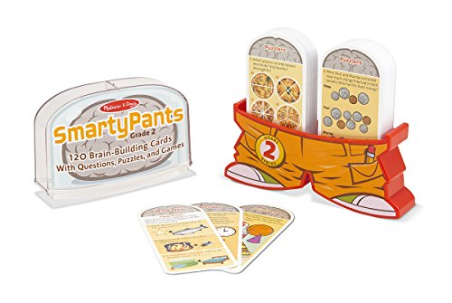 41OFG0N2iiL - Melissa & Doug Smarty Pants 2nd Grade Card Set - 120 Educational Brain-Building Questions, Puzzles, and Games