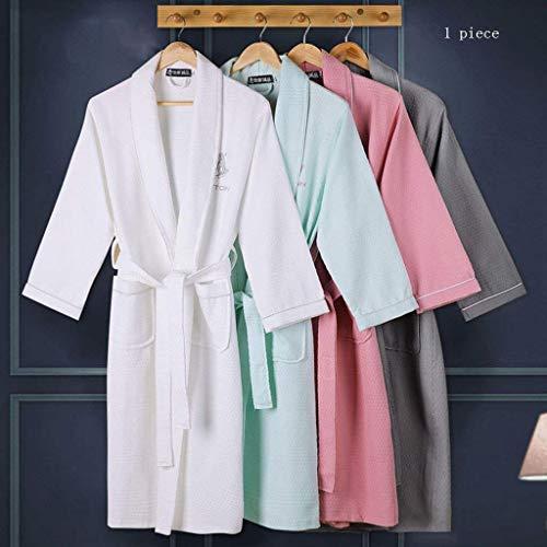 Bolsillos Kimono Camisones Pareja Hombre Manga Estilo Ocasional Cinturón Unisex cuello V Larga Otoño Batas 1 Mujer Con Especial Pijama Pijamas Primavera gHAqxw
