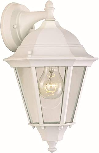 Maxim Lighting 1000WT Westlake – One Light Outdoor Wall Mount, White Finish with Clear Glass