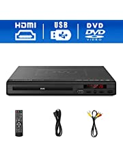 DVD Player,Foramor HDMI DVD Player for TV Support 1080P Full HD with HDMI Cable Remote Control USB Input Region Free Home DVD Players