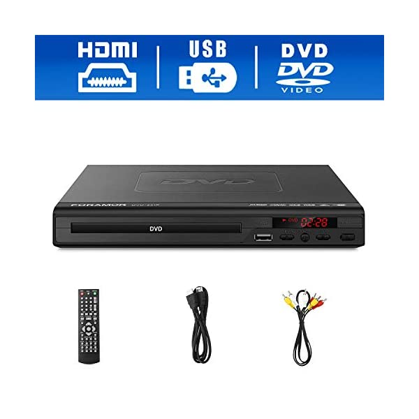 DVD Player,Foramor HDMI DVD Player for TV Support 1080P Full HD with HDMI Cable Remote...