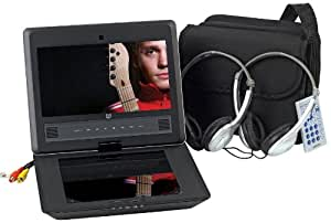 Audiovox DS9106PK 9-Inch LCD Swivel Display Portable DVD Player with Six Hour Playback and Accessory Pack, Black