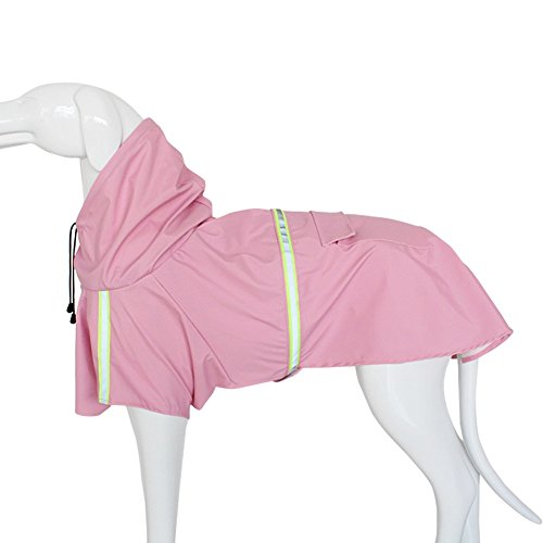 Large Breed Light (Pet Dogs Rain Jacket RainCoat Adjustable Lightweight Poncho with Reflective Stripe for Small Medium Large Dog Breeds,Puppy Waterproof Clothes,Dog Rain Gear Rainy Days)