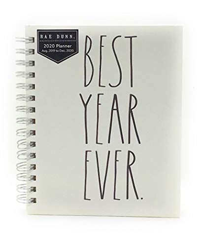 August 2019- December 2020 Weekly Monthly 17 Month HardCover Planner ./ Size 6 '' X 9'' by Rue Dunn for OCS (Best Year Ever)