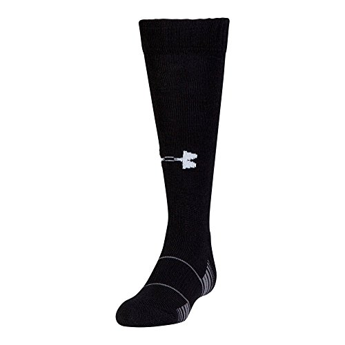 Under Armour Team Over The Calf Socks (1 Pair), Black/White, Youth Large