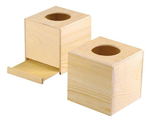 Efco 1432697Wooden Box 14x 13.4x 14cm Brown