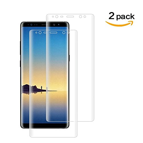 Screen Protector Film Case (Goreson [Full Coverage] PET Soft Flexible TPU film, [2 PACK] Samsung Galaxy Note 8 Screen Protector (Case Friendly), with Lifetime Replacement Warranty)