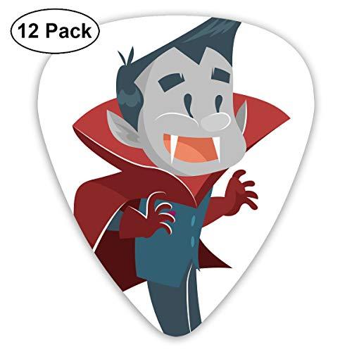 Cartoon Animation Halloween Happy Vampire Bendy Ultra Thin 0.46 Med 0.73 Thick 0.96mm 4 Pieces Each Base Prime Plastic Jazz Mandolin Bass Ukelele Guitar Pick Plectrum Display -