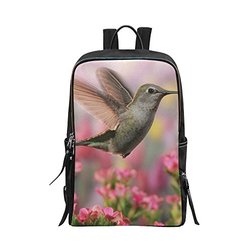 InterestPrint The Jeweled Beauty of a Hummingbird Unisex School Bag Casual Shoulders Backpack Travel Backpacks 15 inch Laptop Bag for Women Men (Hummingbird Jeweled Box)