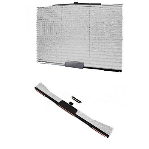 XFAY Faltbarer Einziehbare Universal Sonnenschutzrollo Auto Seitenfenster Sonnenschutz Seitenfenster Rollo Abdeckung für Auto - Grau