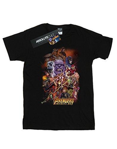 Marvel Avengers Character T Poster Infinity Garçon Noir War shirt qS7rPqfU