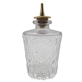 Bitter Bottle – Donatello Bitter Bottle For Cocktail, 4oz / 130ml, Glass Dahs Bottle With Stainless Steel Dasher Top – DSBT0013