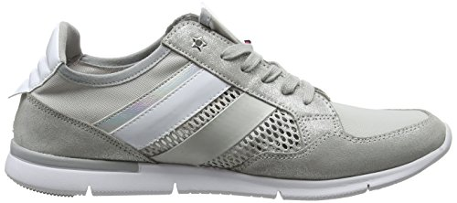 Tommy Light Sneaker Grey Sneakers Metallic Hilfiger Femme Basses 001 Weight Diamond Gris qUgrwqA