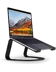 Twelve South Curve laptopställ för MacBook och bärbara datorer | Ergonomisk, ventilerad Notebook Stand för hem eller kontor, matt svart