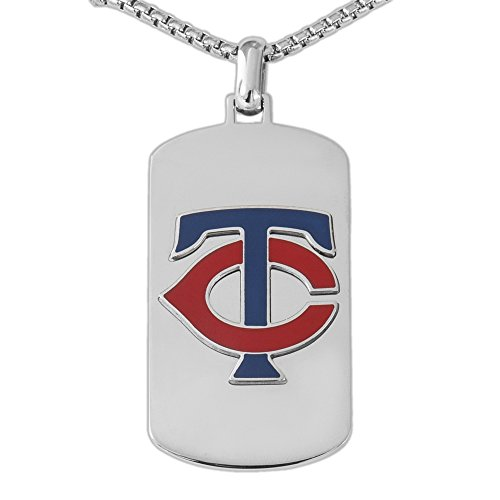 MLB Minnesota Twins Necklace, Blue/Red/Silver, One Size