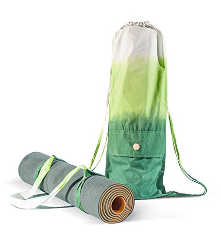 Set Yoga Mat Bag and Strap – Carrying all size Yoga Mat – Handmade Organic Cotton – Large Cargo Pocket Cool Backpack – Yoga Pilates Gym Fitness or Cas…