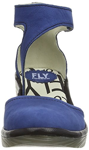 Fly London Piat Women's Ankle Strap Pump Shoes Blue (Blue/Black) cheap buy authentic CWJsxh61Mc