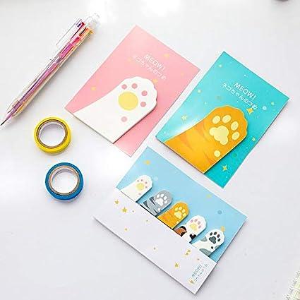 36 unids/lote lindo gato nota adhesiva adhesivo memo pegatinas libro marcador papelería útiles escolares material escolar A6107: Amazon.es: Oficina y papelería