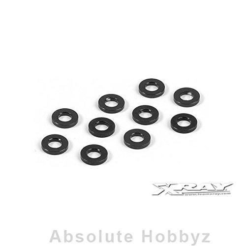 (XRAY Aluminum Shim 3x6x3.0mm - Black (10))
